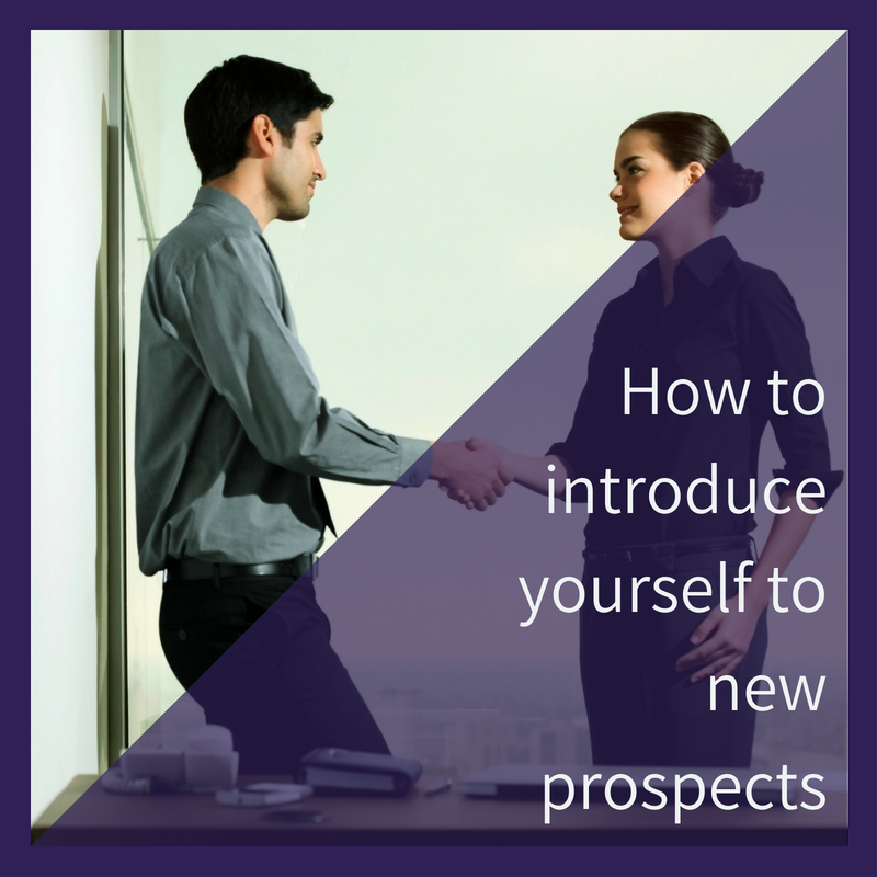 Sales introductions to prospects