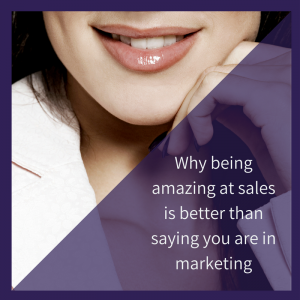 be amazing at sales