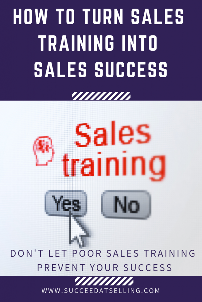 Sales success and sales training